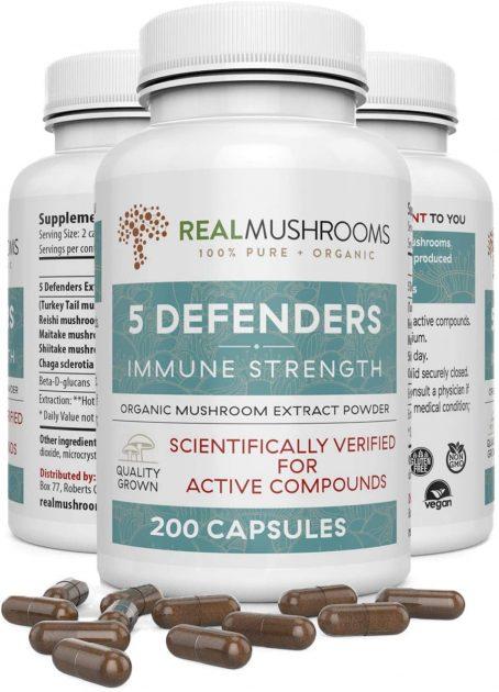 Real Mushroom 5 Defenders Capsules